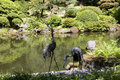 Portland japanese garden beautiful pond in Stock Image