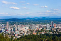 Portland oregon aerial view of Royalty Free Stock Photo
