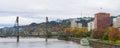 Portland Oregon Downtown Waterfront Park Panorama Royalty Free Stock Photo