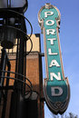 Portland sign. Stock Photos