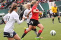 Portland thorns vs seattle reign april at jels wen field Royalty Free Stock Image
