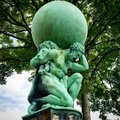 Hercules Statue by William Brodie, Portmeirion, Wales, Uk Royalty Free Stock Photo