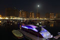 Porto Arabia at night. Doha Royalty Free Stock Image