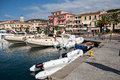 Porto azzuro elba island italy august the port in azzurro on elba island italy on august Stock Photo