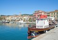Porto azzurro elba island tuscany italy harbor of on mediterranean sea Stock Images