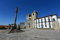 Porto cathedral porto portugal the portuguese sé do and manueline pillory at terreiro da sé this is one of the Royalty Free Stock Photography