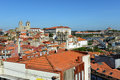 Porto cathedral porto portugal the portuguese sé do and ponte de dom luis i overlook the old city this is Stock Photo