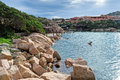 Porto Cervo coastline Royalty Free Stock Images