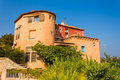 Porto cervo a house in sardinia in mediterranean style Royalty Free Stock Photos