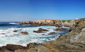 Porto Covo viewpoint facing north to Sines Stock Photography