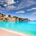 Porto cristo beach in manacor majorca mallorca balearic islands Royalty Free Stock Photo
