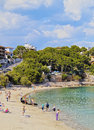 Porto cristo on majorca beach in mallorca balearic islands spain Stock Image