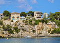 Porto cristo on majorca harbour in mallorca balearic islands spain Royalty Free Stock Photography