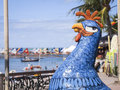 Porto de galinhas colorful sculpture of chicken the symbol of galihnas in the municipality of ipojuca pernambuco brazil on the Royalty Free Stock Photography