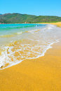 Porto ferro beach on a clear day sardinia Stock Image