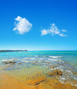 Porto ferro shore on a clear day italy Stock Photo