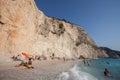 Porto katsiki beach beuatiful on the west coast of greek island lefkada http www lefkada greece com Stock Photography