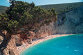 Porto katsiki beach at lefkada island greece Stock Images