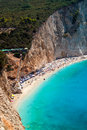 Porto katsiki beach at lefkada island greece Stock Photos
