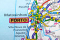 Porto map the city of in detail on the Stock Photos