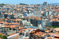 Porto old city aerial view portugal center and antique buildings at avenida dos aliados from clerigos tower portuguese torre dos Stock Image