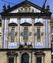Porto, Portugal. August 12, 2017- Detail of the facade of the church of Santo Antonio dos Congregados in the center of the city wi