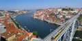 Porto portugal overview of the city of and the douro river by a hot summer day in Stock Photo