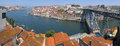 Porto portugal overview of the city of and the douro river by a hot summer day in Stock Photos