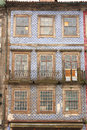 Porto portugal a typical old house decorated with azulejos Royalty Free Stock Images