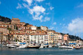 Porto santo stefano tuscany italy view from the sea of in Royalty Free Stock Photos