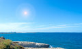 Porto torres coastline on a clear sunny day Royalty Free Stock Photos