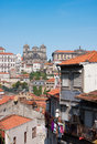 Porto view from the cathedral to the city of portugal Royalty Free Stock Images