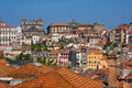 Porto view from the cathedral to the city of portugal Royalty Free Stock Photography