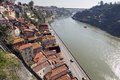 Porto view of douro river passing through portugal Royalty Free Stock Images
