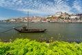 Porto wine boat Royalty Free Stock Photo