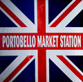 Portobello sign detail of market Stock Image