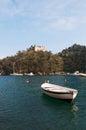 Portofino, the Castle Brown, port, Genoa, Liguria, Italy, Italian Riviera, Europe Royalty Free Stock Photo