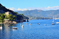 Portofino italia view of the ligurian coast to Stock Photos