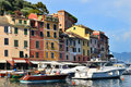 Portofino is Italian fishing village in Liguria Stock Photos