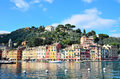 Portofino italy ancient and beautiful italian seaside village Stock Photography