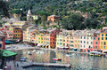 Portofino italy ancient fishing village in liguria Stock Photography