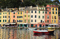 Portofino italy ancient fishing village in liguria Stock Image