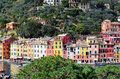 Portofino italy ancient fishing village in liguria Stock Photos