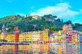 Portofino italy hdr image ancient fishing village in liguria Stock Photo