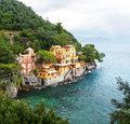 Portofino seaside villa near liguria italy Stock Image