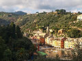 Portofino the tipical house at the harbor italy february pictures of Royalty Free Stock Image