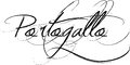 Portogallo sign or portugal in old fashioned handwriting white background Stock Photo