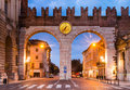 Portoni della bra one of medieval entrance of historical city verona northern italy Royalty Free Stock Images