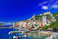 Portovenere scenic ligurian coast of italy Royalty Free Stock Photos