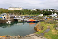 Portpatrick harbour and lifeboat, Scotland Stock Images